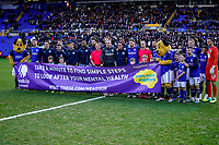 4th January 2020; St Andrews, Birmingham, Midlands, England; English FA Cup Football, Birmingham City versus Blackburn Rovers; All the players join in for a photo to support mental health - Strictly Editorial Use Only. No use with unauthorized audio, video, data, fixture lists, club/league logos or 'live' services. Online in-match use limited to 120 images, no video emulation. No use in betting, games or single club/league/player publications