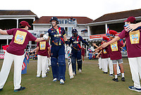 Joe Denly and Daniel Bell-Drummond open the batting for kent during the Vitality Blast T20 game between Kent Spitfires and Sussex Sharks at the St Lawrence Ground, Canterbury, on Fri July 27, 2018