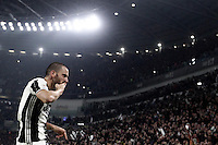 Calcio, Serie A: Juventus Stadium. Torino, Juventus Stadium, 29 ottobre 2016.<br /> Juventus&rsquo; Leonardo Bonucci celebrates after scoring during the Italian Serie A football match between Juventus and Napoli at Turin's Juventus Stadium, 29 October 2016. Juventus won 2-1.<br /> UPDATE IMAGES PRESS/Isabella Bonotto