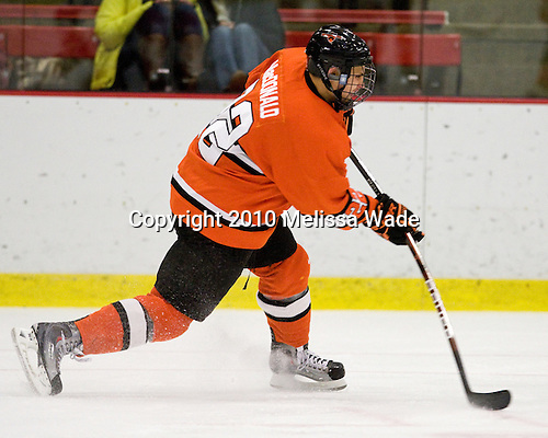 Will MacDonald (Princeton - 22) - The Princeton University Tigers defeated the Harvard University Crimson 2-1 on Friday, January 29, 2010, at Bright Hockey Center in Cambridge, Massachusetts.