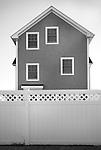 Shorefront house on Long Island Sound facing Willard Bay