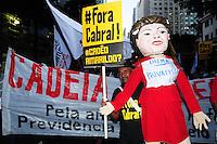 IRO DE JANEIRO,RJ,30.08.2013: POTESTO UNIFICADO NO CENTRO DO RIO DE JANEIRO- Profissionais da educação e outras centrais sindicais realizaram um protesto unificado no Centro do Rio nesta tarde. Os manifestantes se concentraram na Candelária e seguiram em direção a Alerj. Foto: Sandrovox / Brazil Photo Press.