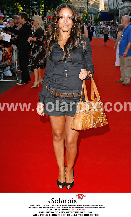 "ALL ROUND PICTURES FROM SOLARPIX.COM. .17/07/06. London..Amelle Berrabah arrives for the premiere of ""Stormbreaker"" at the Vue, Leicester Square. London. Job Ref: 2592/PRS.  .MUST CREDIT SOLARPIX OR DOUBLE USAGE FEE CHARGED.."