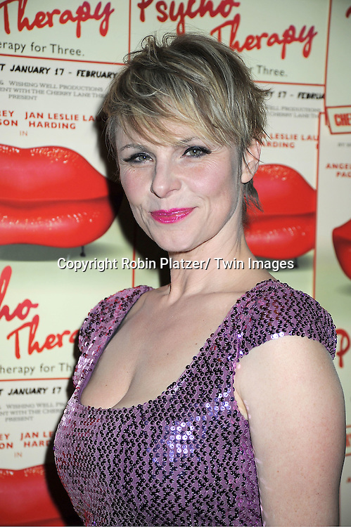 "Angelica Page attends the opening Night of  ""Psycho Therapy"" on February 7, 2012 at The Cherry Lane Theatre in New York City. The show stars, Angelica Page, Jeffrey Carlson, Jan Leslie Harding and Laurence Lau."