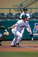 Dartmouth Big Green right fielder Ben Socher (26) at bat during a game against the South Florida Bulls on March 27, 2016 at USF Baseball Stadium in Tampa, Florida.  South Florida defeated Dartmouth 4-0.  (Mike Janes/Four Seam Images)