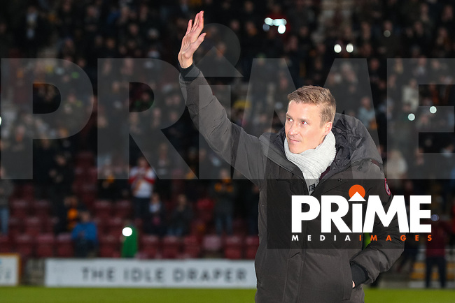 Ex Bradford City player Stephen Darby makes an emotional return to Bradford City during the Sky Bet League 1 match between Bradford City and Oxford United at the Northern Commercial Stadium, Bradford, England on 24 November 2018. Photo by Thomas Gadd.