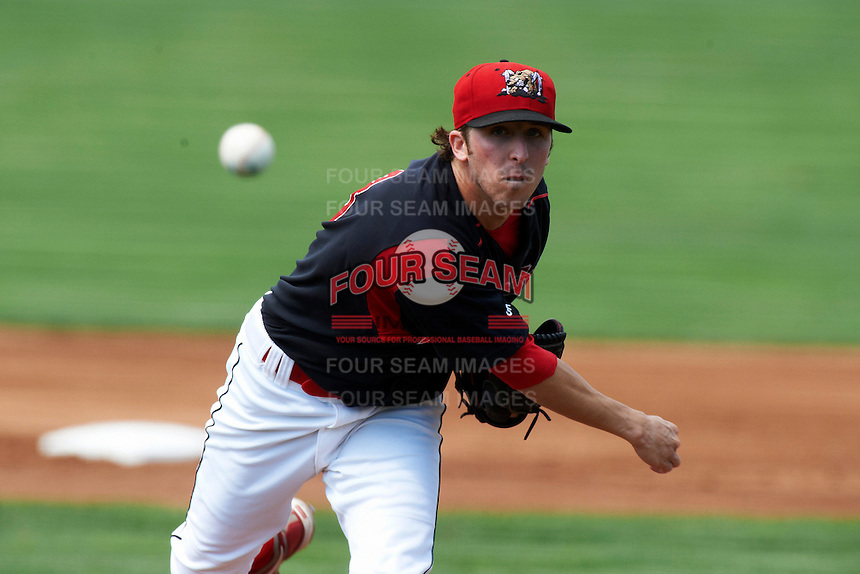 Batavia Muckdogs pitcher Corey Baker #8 during a NY-Penn League game against the Williamsport Crosscutters at Dwyer Stadium on August 26, 2012 in Batavia, New York.  Batavia defeated Williamsport 7-1.  (Mike Janes/Four Seam Images)