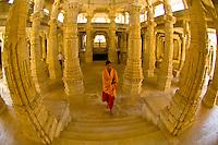 Marble columns, Jain Temple, Ranakpur, Rajasthan, India