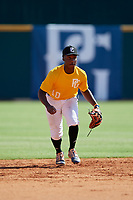 Ryan Spikes (10) of Parkview High School in Lilburn, GA during the Perfect Game National Showcase at Hoover Metropolitan Stadium on June 17, 2020 in Hoover, Alabama. (Mike Janes/Four Seam Images)
