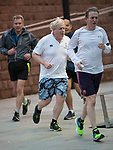 © Joel Goodman - 07973 332324 . 02/10/2017. Manchester, UK. Foreign Secretary BORIS JOHNSON goes jogging . The second day of the Conservative Party Conference at the Manchester Central Convention Centre . Photo credit : Joel Goodman