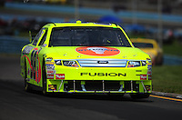 Aug. 8, 2009; Watkins Glen, NY, USA; NASCAR Sprint Cup Series driver Paul Menard during practice for the Heluva Good at the Glen. Mandatory Credit: Mark J. Rebilas-
