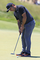 Francesco Molinari (ITA) putts on the 9th green during Saturday's Round 3 of the 118th U.S. Open Championship 2018, held at Shinnecock Hills Club, Southampton, New Jersey, USA. 16th June 2018.<br /> Picture: Eoin Clarke | Golffile<br /> <br /> <br /> All photos usage must carry mandatory copyright credit (&copy; Golffile | Eoin Clarke)