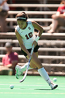 STANFORD, CA - SEPTEMBER 6: Katherine Swank plays against Michigan State on September 6, 2010 in Stanford, California.