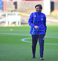 Lincoln City's assistant manager Nicky Cowley during the pre-match warm-up<br /> <br /> Photographer Andrew Vaughan/CameraSport<br /> <br /> The EFL Sky Bet League Two - Crewe Alexandra v Lincoln City - Saturday 11th November 2017 - Alexandra Stadium - Crewe<br /> <br /> World Copyright &copy; 2017 CameraSport. All rights reserved. 43 Linden Ave. Countesthorpe. Leicester. England. LE8 5PG - Tel: +44 (0) 116 277 4147 - admin@camerasport.com - www.camerasport.com