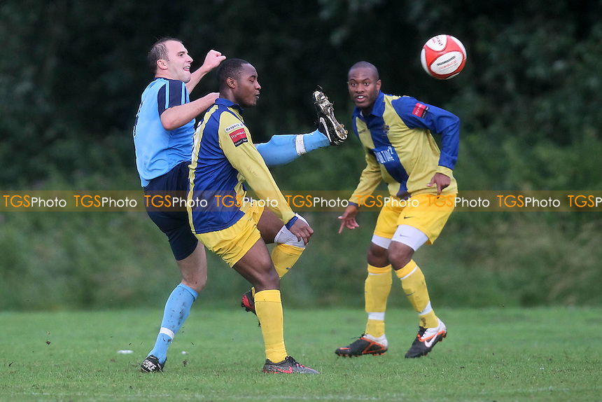 Barkingside vs Romford - Friendly Football Match at Ford Sports Ground, Newbury Park - 10/07/12 - MANDATORY CREDIT: Gavin Ellis/TGSPHOTO - Self billing applies where appropriate - 0845 094 6026 - contact@tgsphoto.co.uk - NO UNPAID USE.