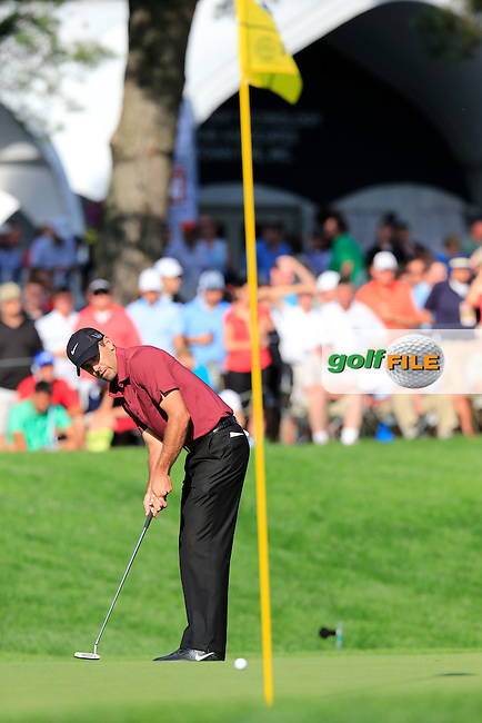 Charl Schwartzel (RSA) putts on the 15th green during Friday's Round 2 of the 95th US PGA Championship 2013 held at Oak Hills Country Club, Rochester, New York.<br /> 9th August 2013.<br /> Picture: Eoin Clarke www.golffile.ie