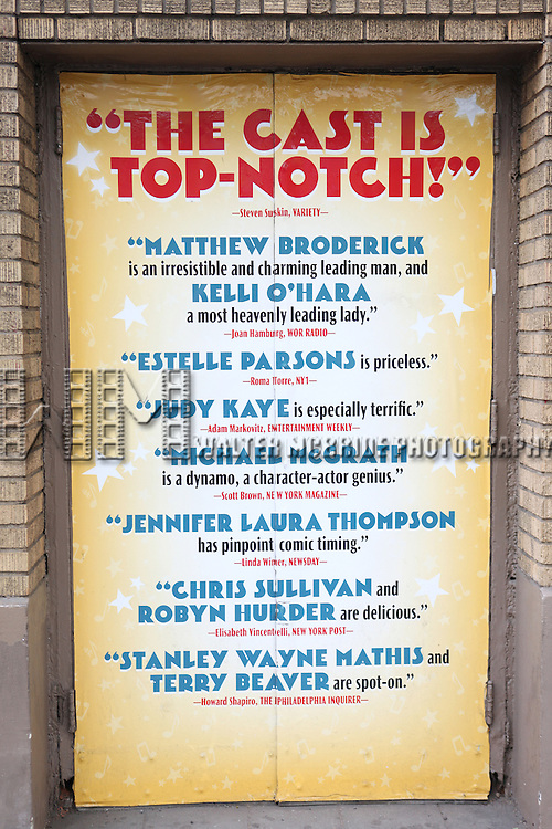 Theatre Marquee celebrating the 200th Performance of 'Nice Work if You Can Get It' on Broadway at the Imperial Theatre on October 17, 2012 in New York City.