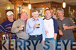 Customers celebrate the 25th birthday of Charlie's Bar at the Kerins O'Rahillys Clubhouse the bar is open 25 years this week from left Jim Donnelly, Ger Donnelly, Pat Spillane, Neilus McCarthy and Ger Donaghue.