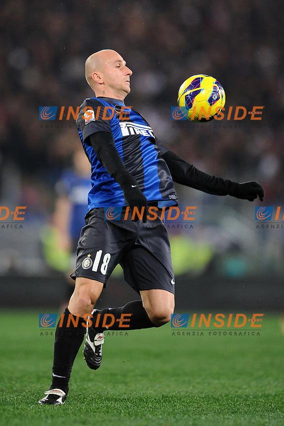 Tommaso Rocchi Inter.20/01/2013 Roma.Stadio Olimpico.Football Calcio 2012 / 2013 .Campionato di Calcio Serie A.Roma vs Inter.Foto Insidefoto / Antonietta Baldassarre.