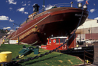 AJ2887, Duluth, Minnesota, Lake Superior, William A. Irvin Ore Boat a former flagship of the United States Steel fleet at the waterfront in the city of Duluth in the state of Minnesota.