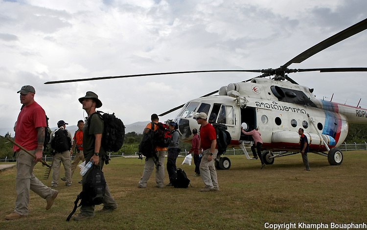 JPAC recovery team 3 return to base camp at Ta Oy, Laos on Wednesday, November 7, 2012. The recovery team is searching for the remains of an American Marine unaccounted for from the Vietnam war. (Star-Telegram/Khampha Bouaphanh)