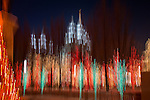 Christmas lights of downtown Salt Lake City Utah