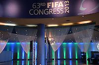Fussball 63. FIFA Kongress auf Mauritius 2013    24.05.2012 Innenansicht der Eingangshalle des Swami Vivekananda International Convention Centre (SVICC)