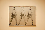 San Francisco Museum of Modern Art, SFMOMA, Andy Warhol painting titled Triple Elvis.  Photo copyright Lee Foster.  Photo # casanf103973