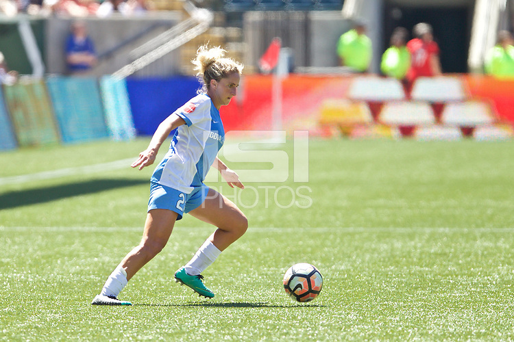 Portland, OR - Saturday August 05, 2017: Camille Levin during a regular season National Women's Soccer League (NWSL) match between the Portland Thorns FC and the Houston Dash at Providence Park.