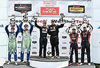 IMSA Continental Tire SportsCar Challenge<br /> Lime Rock Park 120<br /> Lime Rock Park, Lakeville, CT USA<br /> Saturday 22 July 2017 <br /> 27, Mazda, Mazda MX-5, ST, Britt Casey Jr, Matt Fassnacht, 25, Mazda, Mazda MX-5, ST, Chad McCumbee, Stevan McAleer, 84, BMW, BMW 328i, ST, James Clay, Tyler Cooke<br /> World Copyright: Richard Dole<br /> LAT Images<br /> ref: Digital Image RD_LRP_17_01180