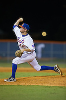 Kingsport Mets relief pitcher Thomas McIlraith (44) delivers a pitch to the plate against the Elizabethton Twins at Hunter Wright Stadium on July 9, 2015 in Kingsport, Tennessee.  The Twins defeated the Mets 9-7 in 11 innings. (Brian Westerholt/Four Seam Images)