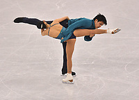 Japan's Miu Suzaki and Ryuichi Kihara give a figure skating pair performance in the Gangneung Ice Arena at the Winter Olympics in Pyeongchang, South Korea, 9 February 2018. Photo: Peter Kneffel/dpa /MediaPunch ***FOR USA ONLY***