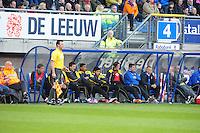 VOETBAL: HEERENVEEN: Abe Lenstra Stadion, SC Heerenveen - Vitesse, 21-01-2012, Eindstand 1-1, dug-out Vitesse, wisselspelers, begeleiding, ©foto Martin de Jong