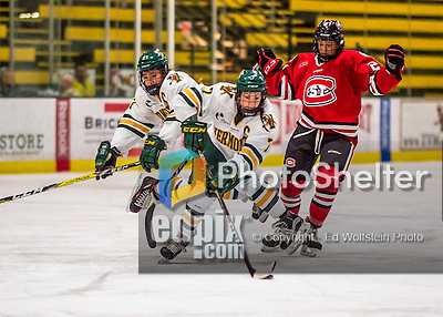 25 November 2016: University of Vermont Catamount Defender Rachael Ade, a Senior from Davenport, FL, in action against the Saint Cloud State Huskies at Gutterson Fieldhouse in Burlington, Vermont. The Lady Cats defeated the Huskies 5-1 to take the first game of the 2016 Windjammer Classic Tournament. Mandatory Credit: Ed Wolfstein Photo *** RAW (NEF) Image File Available ***