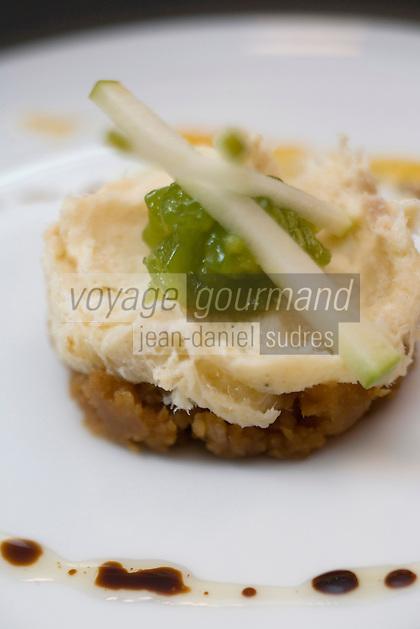 """Europe/France/Languedoc-Roussillon/30/Gard/Nîmes: Restaurant """"le Lisita"""" Brandade de Morue à la gelée de pomme recette d'Olivier Drouet"""