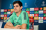 Real Madrid's player Courtois in press conference after training session. <br /> November 25 ,2019.<br /> (ALTERPHOTOS/David Jar)