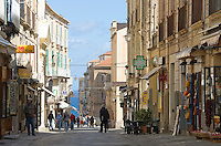 Italy, Calabria, beach resort Protea: old town lane