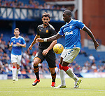 14.07.2019: Rangers v Marseille: Sheyi Ojo and Morgan Sanson