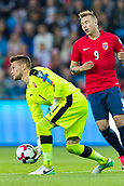 June 10th 2017, Ullevaal Stadion, Oslo, Norway; World Cup 2018 Qualifying football, Norway versus Czech Republic; Tomas Vaclik of Czech Republic puts the ball back into play during the FIFA World Cup qualifying match.