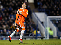 Blackpool's Chris Long runs on to make his debut for the club<br /> <br /> Photographer Andrew Kearns/CameraSport<br /> <br /> The EFL Sky Bet League One - Portsmouth v Blackpool - Saturday 12th January 2019 - Fratton Park - Portsmouth<br /> <br /> World Copyright &copy; 2019 CameraSport. All rights reserved. 43 Linden Ave. Countesthorpe. Leicester. England. LE8 5PG - Tel: +44 (0) 116 277 4147 - admin@camerasport.com - www.camerasport.com