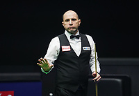 31st October 2019, Yushan, Jiangxi Province, China; Joe Perry of England reacts during the round of 16 match against his compatriot Judd Trump at 2019 Snooker World Open in Yushan