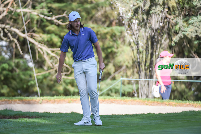 Tommy Fleetwood (ENG) reacts to barely missing his putt on 7 during round 1 of the World Golf Championships, Mexico, Club De Golf Chapultepec, Mexico City, Mexico. 2/21/2019.<br /> Picture: Golffile | Ken Murray<br /> <br /> <br /> All photo usage must carry mandatory copyright credit (© Golffile | Ken Murray)