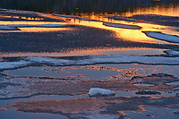 Ice at sunrise<br />Lake Superior Provincial Park<br />Ontario<br />Canada