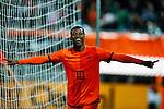 Nederland, Rotterdam, 15 oktober 2012.Interland.Jong Oranje-Jong Slowakije.Georginio Wijnaldum van Jong Oranje juicht nadat hij een doelpunt heeft gemaakt, 1-0
