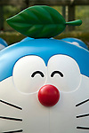 "July 16, 2014, Tokyo, Japan - A statue of the Japanese manga series ""Doraemon"" at Roppongi Hills on July 16, 2014. Sixty-six different statues of popular Japanese cartoon character Doraemon are lined up in front of the Mori Tower as a part of TV Asahi's ""Summer Station"" activities which will held from July 19 to August 24. (Photo by Rodrigo Reyes Marin/AFLO)"