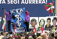 Tribute to four ETA members killed in an explosion while carrying an explosive in Bilbao.<br /> Argazkia: Ander Gillenea.<br /> Boluetako eztandan hildako 4 ETA kideei Bilbon eginiko omenaldia.