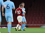 Arsenal's Jack Wilshere gets sent off after this altercation during the premier league 2 match at the Emirates Stadium, London. Picture date 21st August 2017. Picture credit should read: David Klein/Sportimage