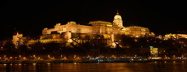 Castle at nightime with the Danube - Budapest - Hungary