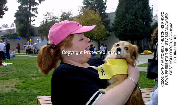 ©2002 KATHY HUTCHINS / HUTCHINS PHOTO.PAWS PRESENTS THE 1ST ABIGAIL AWARD.WEST HOLLYWOOD, CA 2/16/02.PATRIKA DARBO
