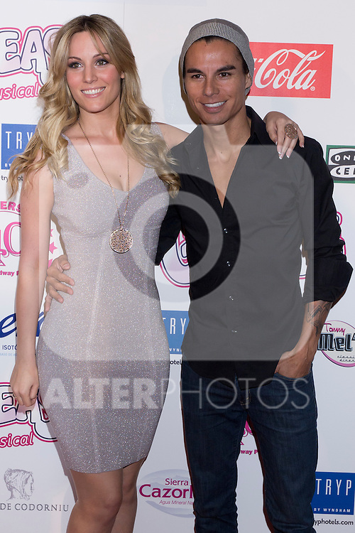 "Photocall at Theatre Artery Coliseum ""Grease, the musical"" to present to Julio Iglesias Junior as new lead singer of the function. In the picture: Edurne and Julio Iglesias Junior (Alterphotos/Marta Gonzalez)"